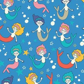 Mermaids bright colors