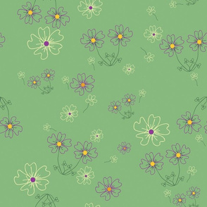 Charming Blooms on Mint