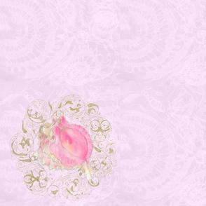 pink shell 3 napkin sized
