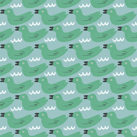 Ducks in the water fabric by anda on Spoonflower - custom fabric