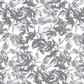 Light Gray Grey White  Leaf Leaves Tree Neutral Home Decor _ Miss Chiff Designs