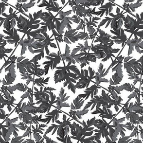 Leaf Leaves Black White Gray Grey  Tree Neutral Home Decor _ Miss Chiff Designs