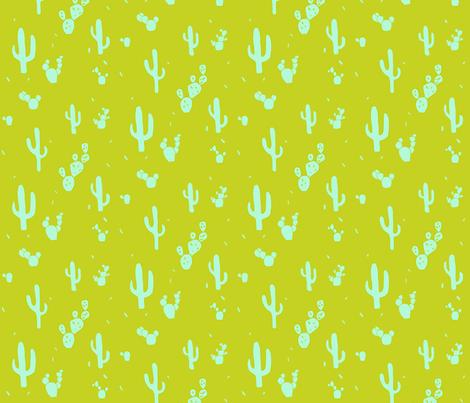 neon cactus fabric by hejamieson on Spoonflower - custom fabric