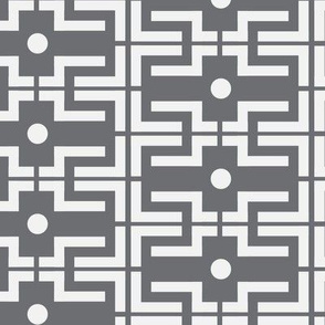 Gray grey bold large scale geometric abstract white _ miss chiff designs