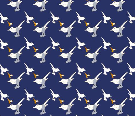 Playful birds 3 fabric by marta_caldas on Spoonflower - custom fabric