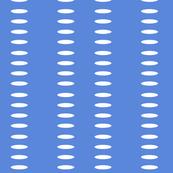 Ellipse Stripes in Racing Blue