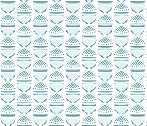 Beachy Blue Lines and Dots fabric by hejamieson on Spoonflower - custom fabric