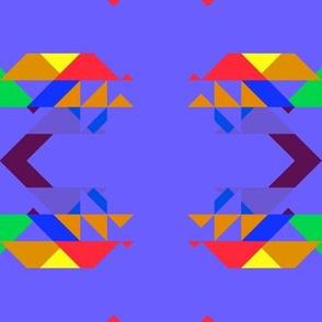Triangles on Purple Geometric