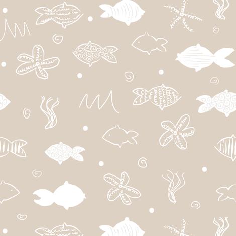 Sea Doodle fabric by karapeters on Spoonflower - custom fabric