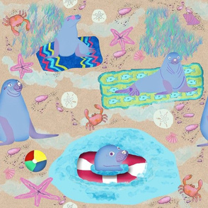 Beach Party Seals, Large