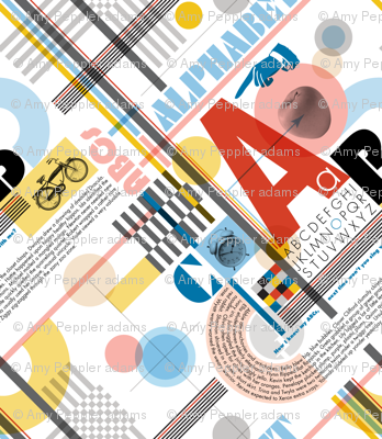 ABC (Alphabetic Bauhaus Composition)* || primary colors typography geometric 20s 30s 1920s 1930s weimar circles check letters red yellow blue