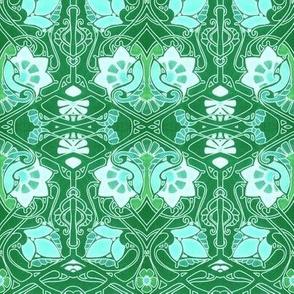 Bold Green Nouveau