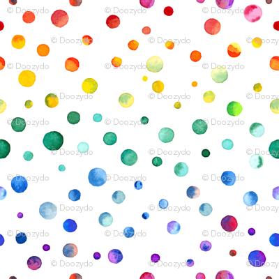 Watercolor Rainbow Confetti