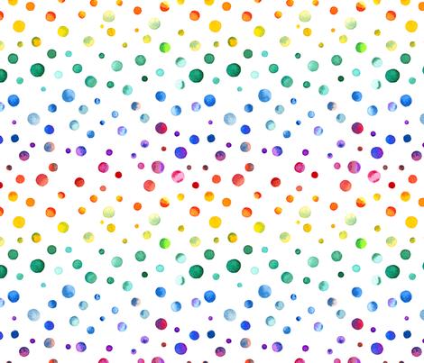 Watercolor Rainbow Confetti fabric by doozydo on Spoonflower - custom fabric