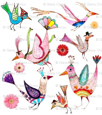 Folksy Feathered Friends