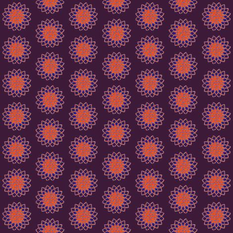 purple orange sunflower fabric by farreystudio on Spoonflower - custom fabric