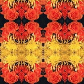 YellowMumsOrangeRoses-mirrored