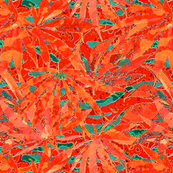 Pot Leaf Orange Safety