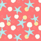 Salish Starfish - Coral