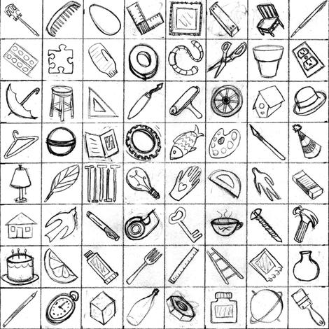 tools fabric by farreystudio on Spoonflower - custom fabric