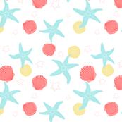 Salish Starfish - White