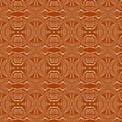 Orange Woodcut