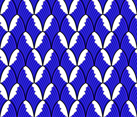 make some waves scallop pattern  fabric by b0rwear on Spoonflower - custom fabric