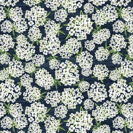 Alyssum - Navy fabric by sarah_treu on Spoonflower - custom fabric