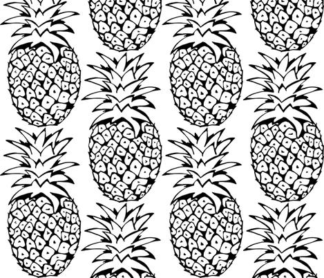 pineapple print fabric by caramiya on Spoonflower - custom fabric