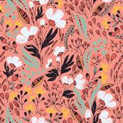 Floral Dance on pink