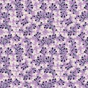 Floral Dance accent on purple