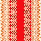 tribal lengthwise orange beige