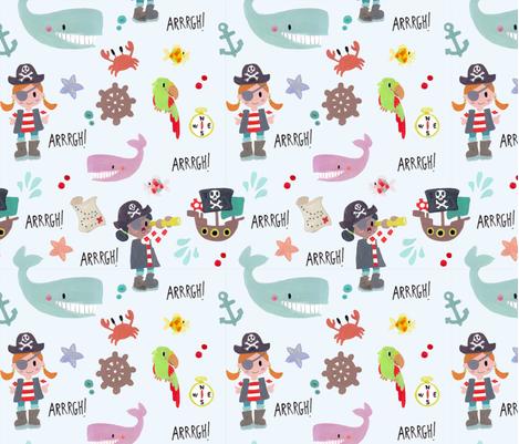 pirates! fabric by anna_jornet on Spoonflower - custom fabric