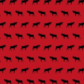 moose red and black canada fabric
