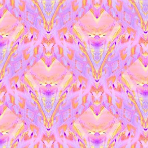 sunrise pink yellow coral purple jewels diamonds scales by Paysmage