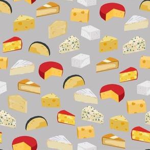 cheeses food fabric gourmet foodie grey