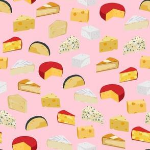 cheeses food fabric gourmet foodie pink