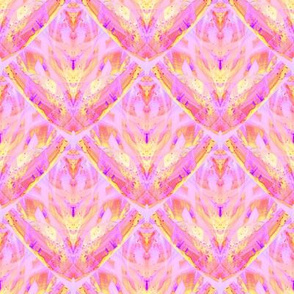 sunrise pink yellow coral scales mermaid