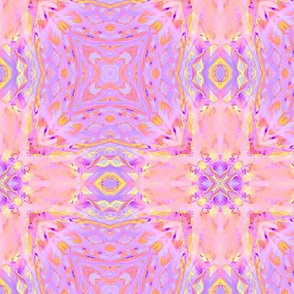 sunrise pink yellow purple checkerboard tiles 2 by Paysmage