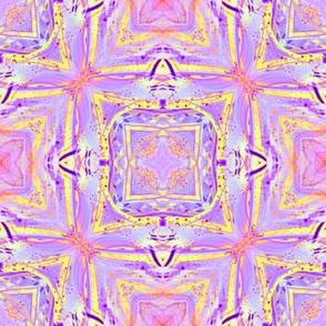 sunrise pink yellow purple mandala checkerboard tiles 3