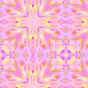 sunrise pink yellow purple checkerboard tiles 5 cross and squares