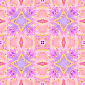 sunrise pink yellow purple checkerboard tiles