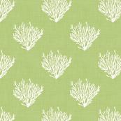 Coral - Green - Linen