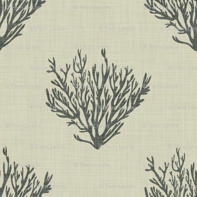 Coral - Neutral Dark - Linen