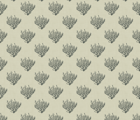 Coral - Neutral Dark - Linen fabric by fernlesliestudio on Spoonflower - custom fabric