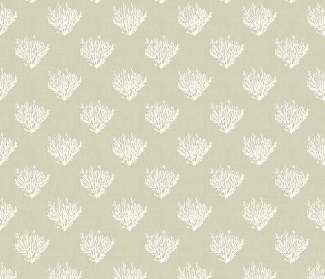 Coral - Neutral Light - Linen fabric by fernlesliestudio on Spoonflower - custom fabric