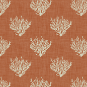 Coral - Rust - Linen