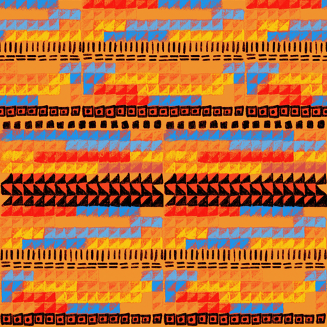 Bauhaus weaving orange blue red fabric by jerseymurmurs on Spoonflower - custom fabric