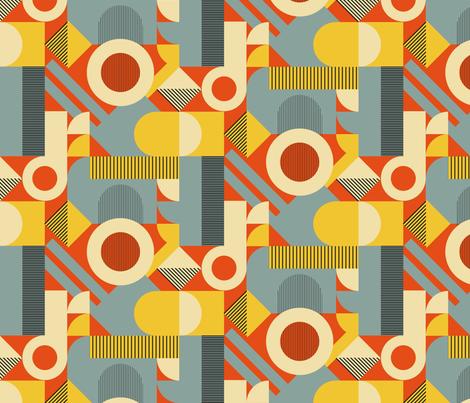 Bauhauswork (and play) fabric by seesawboomerang on Spoonflower - custom fabric