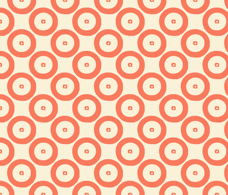 Wheels in #fa7a5d fabric by anniedeb on Spoonflower - custom fabric